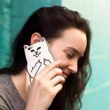 For iPhone 6 Plus 6s Pocket Cat Middle Finger 3D Silicone Phone Case Cover Skin