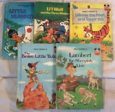 "Joblot Bundle Of 5x Vintage 1970s Disney ""Wonderful World Of Reading"" Books"