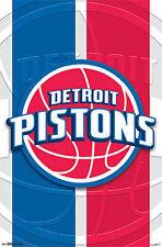 Detroit Pistons - Logo - NBA - Basketball Poster