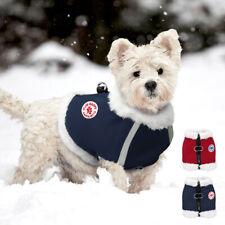 Reflective Winter Dog Clothes Warm Fleece Pet Cat Vest Puppy Walk Harness Jacket