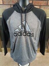Adidas Ultimate Hoodie Hooded Sweatshirt Mens Size Medium Black Gray 3 stripe