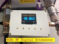 New 6GHz OLED Display Digital Programmable Attenuator 60DB Step 0.25DB RF Module