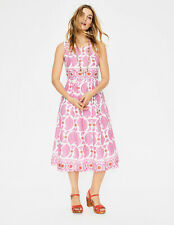 BODEN dress size 10 reg Lizzie Dress  Pink Duo Paisley colour W0157 RRP £98.00