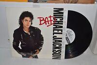 Michael Jackson Bad shrink w/inner Pop Record lp Vinyl Orig VG+