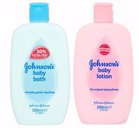 Johnson & Johnson Baby Bath cleansing and Lotion babysoftness 300ml / Each