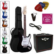 E-Gitarre ST5 im Set, Verstärker  Modell GW15, mit Zubehör- Massiv-Holz,Auswahl