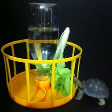 2in1 No Trample auto water Dish food Feeder Tray Tortoise turtle Reptile lizard
