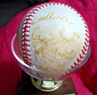 Ozzie Smith Willie McGee Autographed Game Used Baseball 1985 S.LCardinals RARE ⚾