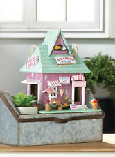 country ice cream parlor shop wood fairy house Bird feeder decorative birdhouse