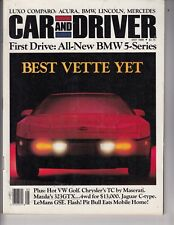"""#881 Car And Driver Magazine May 1988 """"Best Vette Yet"""" 1989 Corvette Issue /t3"""