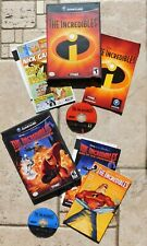 Gc Gamecube The Incredibles & Rise Of The Underminer Disc's Booklet's Cases Two