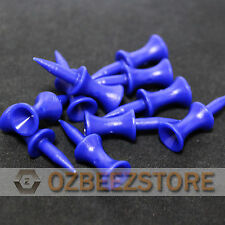 37 mm Blue Plastic Golf Step Tees castle tees  pack of 100