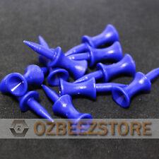 35 mm Blue Plastic Golf Step Tees castle tees  pack of 100