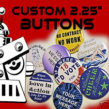 """1000 Custom Made 2 1/4 inch Pinback Buttons Badge 2.25"""""""