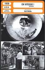 EN VITESSE - Harold Lloyd (Fiche Cinéma) 1928 - Speedy