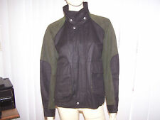 AUSTRALIAN OUTBACK COLLECTION Bomber Jacket Oilskin Cotton Sz SP Green/Black EUC