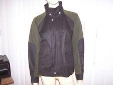 AUSTRALIAN OUTBACK COLLECTION Bomber Jacket Oilskin Cotton Sz SP Green/Black EUC
