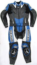 Sehr gut erhaltene BERIK Motofun Gr. 40 Zweiteiler Lederkombi schwarz blau