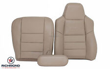 2002 Ford F350 Lariat -Complete Driver Side Replacement Leather Seat Covers TAN