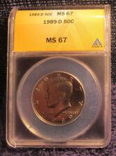 1989-D Kennedy Half Dollar ANACS MS67