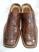 Ariat Womens Mules Size 6.5 B  Brown leather #JS