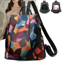 US Stock Women Student Oxford Cloth Backpack Anti-theft Daypack Travel Backpack