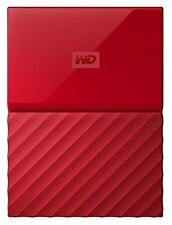 New WD Western Digital My Passport 2TB 2 TB Portable External Hard Drive HDD Red