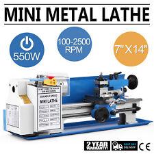 "Mini Tornio in Metallo 550W 7""x14"" Elettronico Metal Lathe 50-2500 PRM"