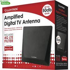 Lloytron Amplified HD TV Indoor Antenna Digital Freeview Aerial 50dB 4G Filter