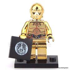 Custom Chrome C-3PO Droid Star Wars Minifigure fits with Lego UK Seller