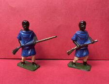 JOHILLCO X2 ETHIOPIAN TRIBESMEN LEAD TOY SOLDIERS VINTAGE 1940s JOHN HILL & CO