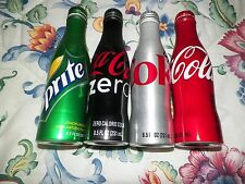 1 Set of 4 - 8.5 oz  Aluminum Empty Bottles COCA , Diet Coke, Coke Zero & SPRIT