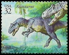 Us 3136g The World of Dinosaurs Allosaurus 32c single Mnh 1997