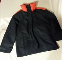MENS GORETEX BLUE ORANGE DETACHABLE LINER INSULATED 22X29X22 COLD WEATHER JACKET