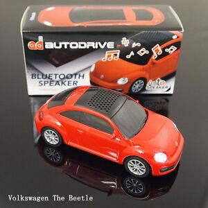 Autodrive Universal Bluetooth wireless Speaker , Volkswagen The Beetle , Red