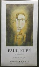 "Paul Klee Vintage Print ""12 Aquarelles"" 35""×19"" Circa 1964 Berggruen & Cie Paris"