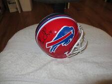 Thurman Thomas & James Lofton autographed signed auto Buffalo Bills mini helmet