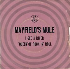 "MAYFIELD'S MULE I SEE A RIVER / QUEEN OF ROCK ""N"" ROLL 1970 RECORD INDIA 7"" PS"