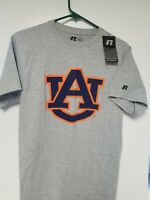 New w Tags Men's Russell Gray Auburn Tigers T-Shirt Size Small S
