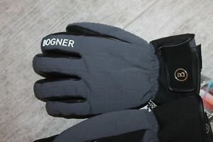 Bogner Herren Leder Ski Handschuh Dave R-TEX Grau Schwarz Größe 8,5 S Neu