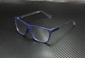 GUCCI GG0492OA 005 Square Blue Shiny Blue Demo Lens 56 mm Men's Eyeglasses