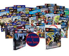 Lego DC Comics Super Heroes Phonics Readers Box Sets1 & 2; 20 Books & 4 Workbks