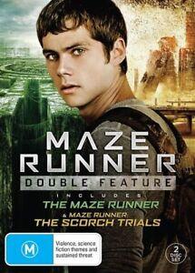 MAZE RUNNER / MAZE RUNNER: SCORCH TRIALS (DVD, 2017, 2-DISC SET) NEW/SEALED