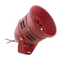 FIRE ENGINE RED 12V AIR RAID SIREN HORN TORNADO ALARM REAL MOTOR DRIVE! ANALOG