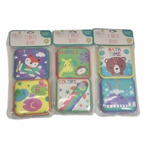 Set of 6 Magic Years Baby Bath Books w/ Squeakers - ABC~Animals~Colors - NEW