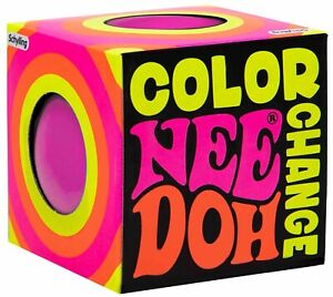 NeeDoh The Groovy Glob Color Change Pink 2.5-Inch Small Stress Ball