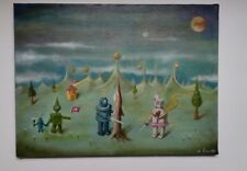 Quadro olio su tela Pop Surrealism stile Mark Ryden, Dalí, Magritte, Varo..