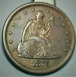 1875-S USA 20 Cent Type Coin in XF+ Condition  (417)