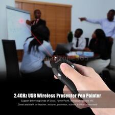 RF 2.4GHz Wireless USB PowerPoint PPT Presenter Remote Laser Pointer Pen N3W8