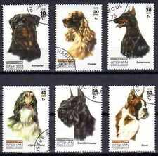 Chiens Afghanistan (3) série complète de 6 timbres oblitérés
